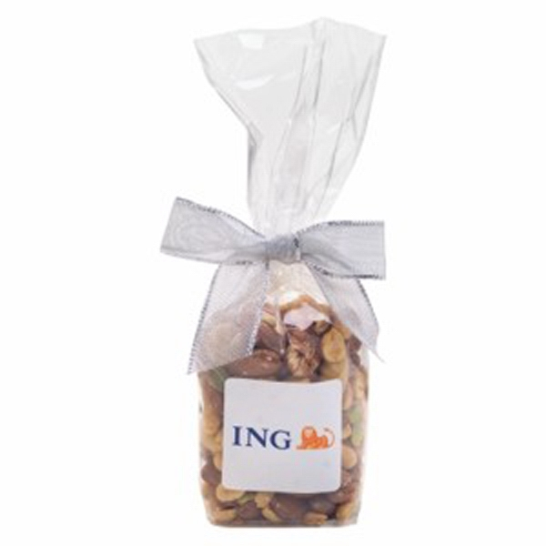 Imprinted Elegant Mug Stuffer Bag /  Mixed Nuts 5.7 oz