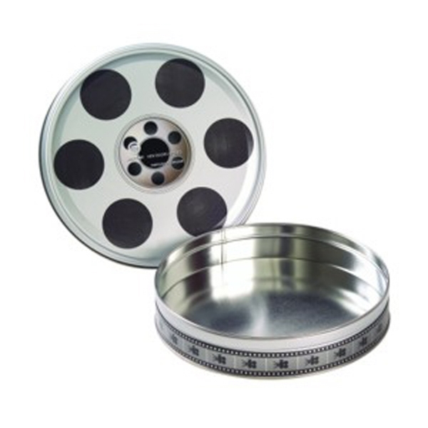 Printed Large Empty Film Reel Tin