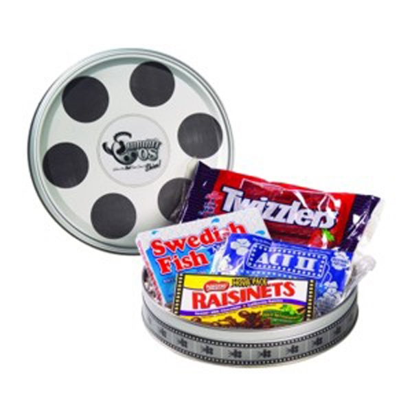 Promotional Large Film Reel Tin / Movie Pack