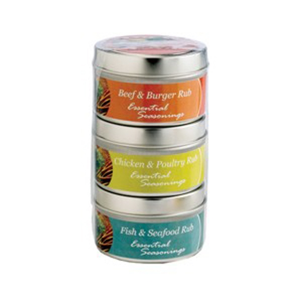 Imprinted Set of 3 Spice Rubs