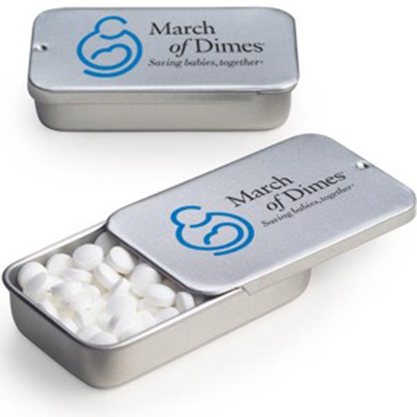 Imprinted Slide Tin with Mini Mints