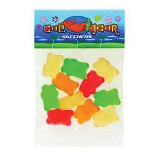 Imprinted 1 oz Gummy Bears (Choose Your Colors) / Header Bag