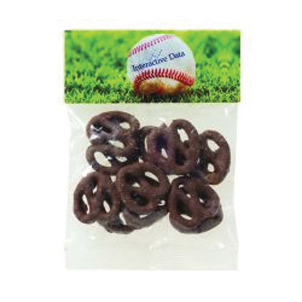 Personalized 1 oz Chocolate Pretzels / Header Bag
