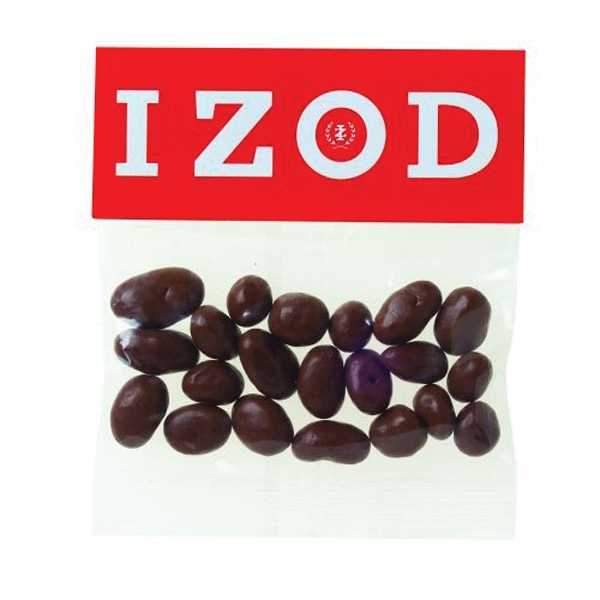 Printed 2 oz Chocolate Raisins / Header Bag