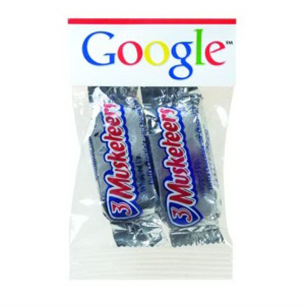 Imprinted 1 oz Fun Size Candy Bars / Header Bag