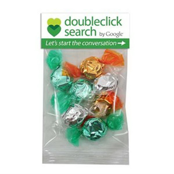 Promotional 1 oz Foil Wrapped Hard Candy / Header Bag