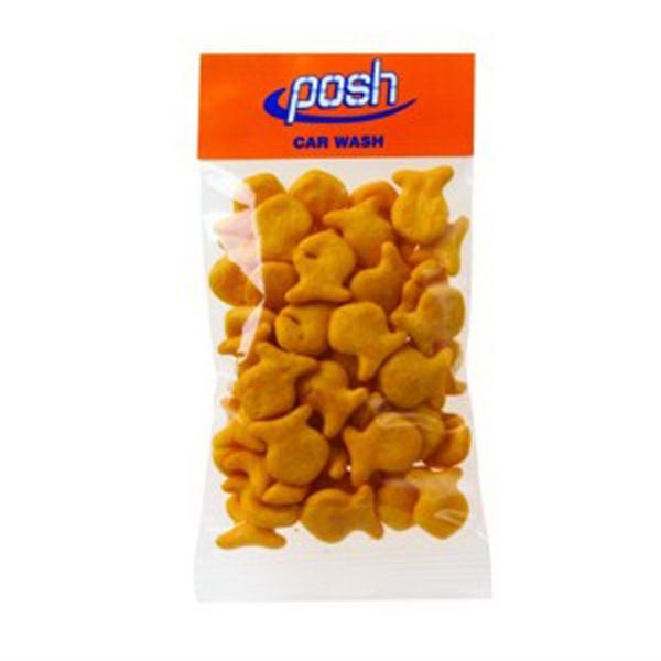 Personalized 1 oz Goldfish (R) Crackers (Cheddar) / Header Bag