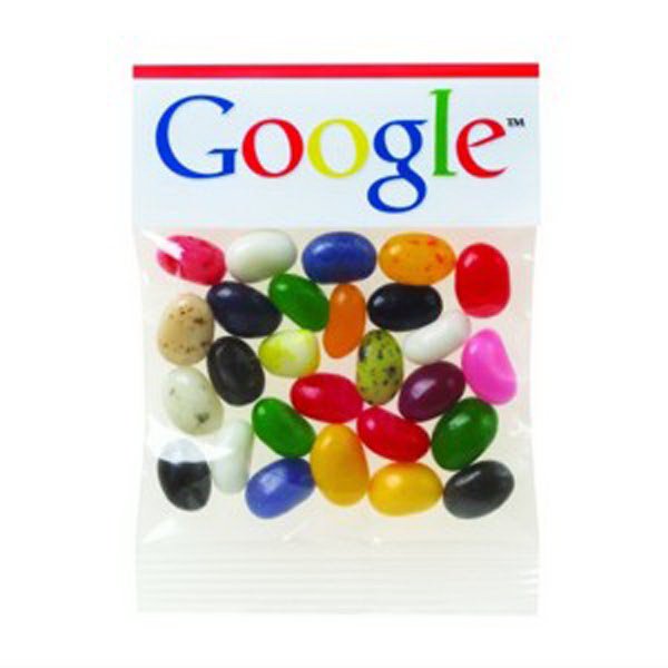 Promotional 1 oz Gourmet Jelly Beans (Choose Your Color) Header Bag
