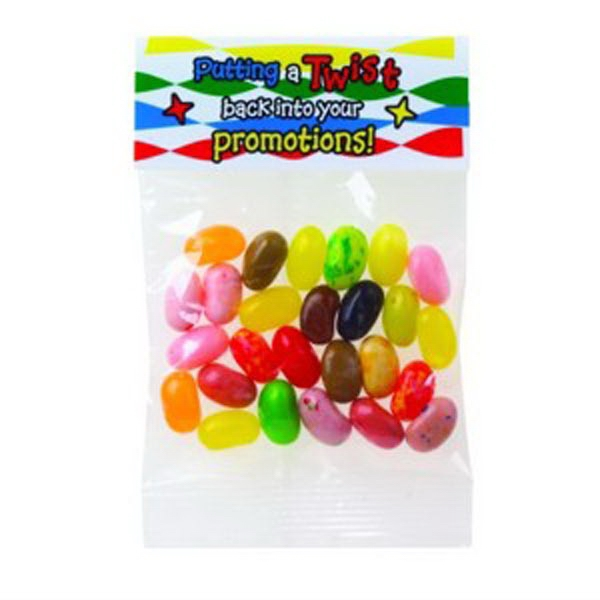 Printed 1 oz Jelly Belly® Jelly Beans(Choose Your Color)Header Bag