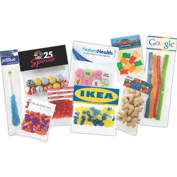 Customized 1 oz Candy Coated Chocolate Peanut Candies Header Bag