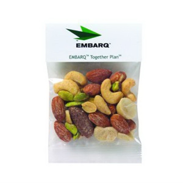 Imprinted 1 oz Mixed Nuts / Header Bag
