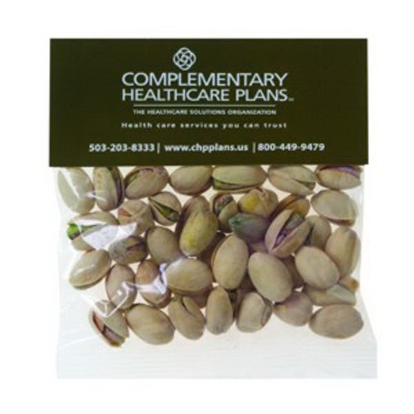 Personalized 2 oz Pistachio Nuts / Header Bag