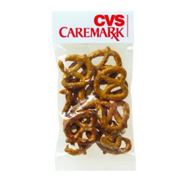 Promotional 1 oz Pretzel Minis / Header Bag