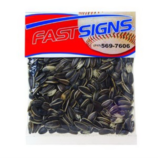 Imprinted 2 oz Sunflower Seeds in the Shell / Header Bag