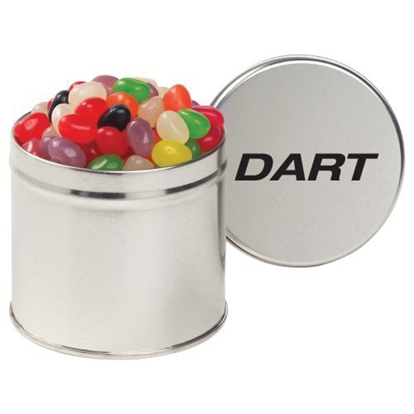 Custom Half Quart Round Tin / Assorted Jelly Beans