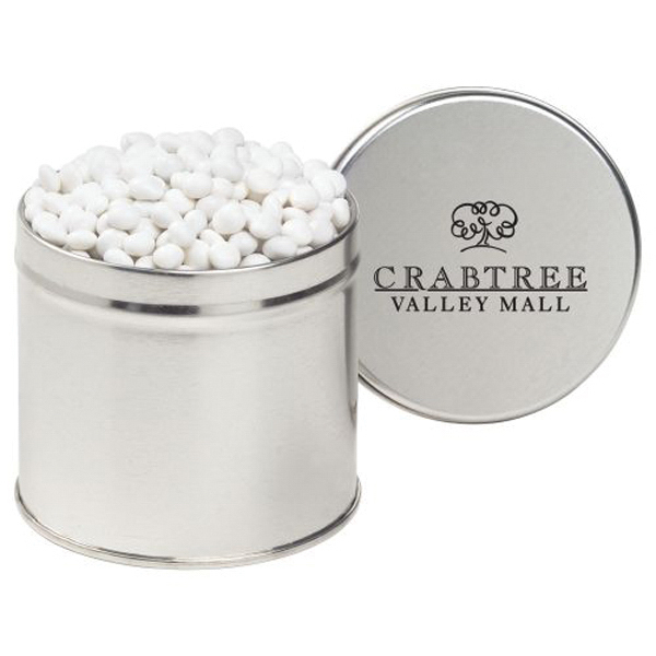 Custom Half Quart Round Tin / White Mints