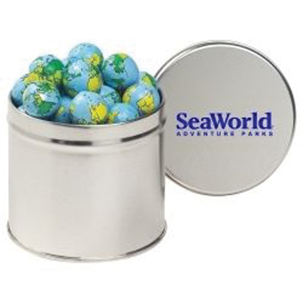 Printed Half Quart Round Tin / Chocolate Earth Balls