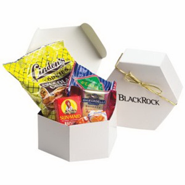 Personalized Hexagon Gift Box / Snack Mix