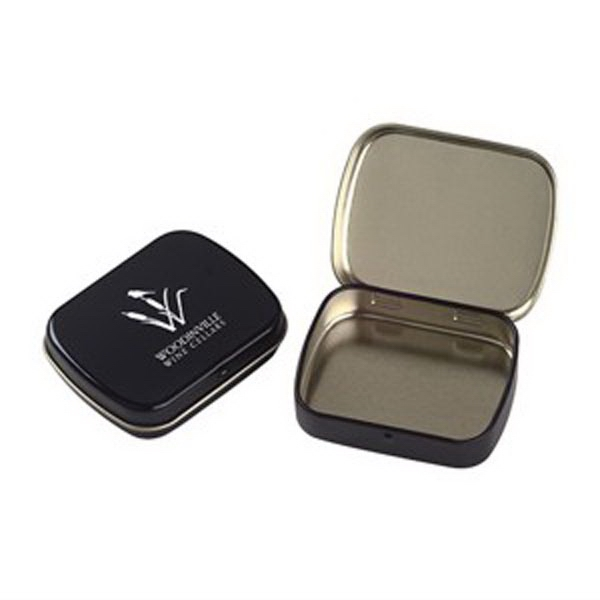 Promotional Empty Small Hinged Tin