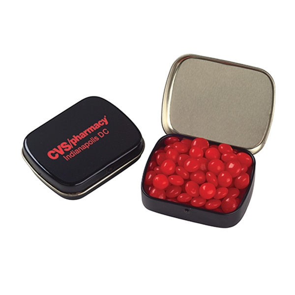 Custom Small Hinged Tin with Red Hots (R)