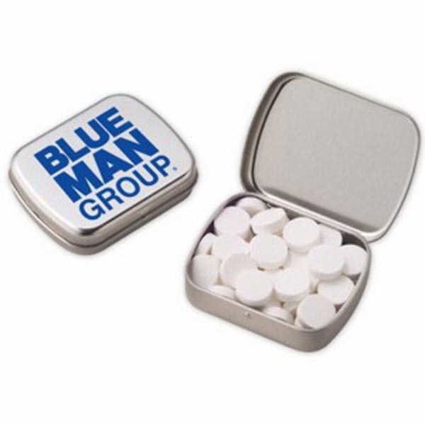 Promotional Small Hinged Tin with Powermints