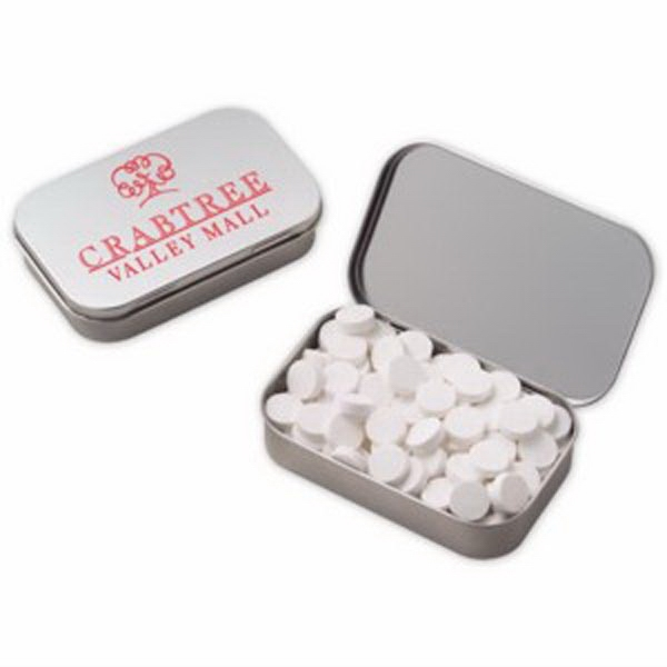 Customized Large Hinged Tin with Powermints