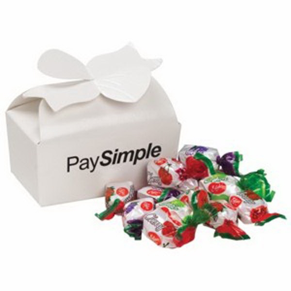 Promotional Large Bow Gift Box / Fruit Flavored Hard Candies (14)