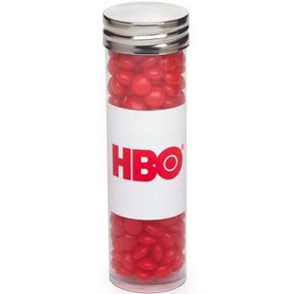Customized Large Tube with Silver Cap / Red Hots (R)