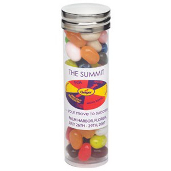 Printed Large Tube with Silver Cap / Jelly Belly (R) Jelly Beans