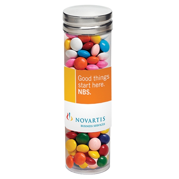 Printed Large Tube with Silver Cap / Chocolate Buttons