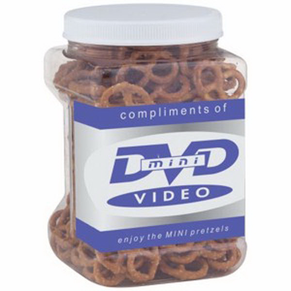Promotional Easy Grip Container / Mini Pretzels