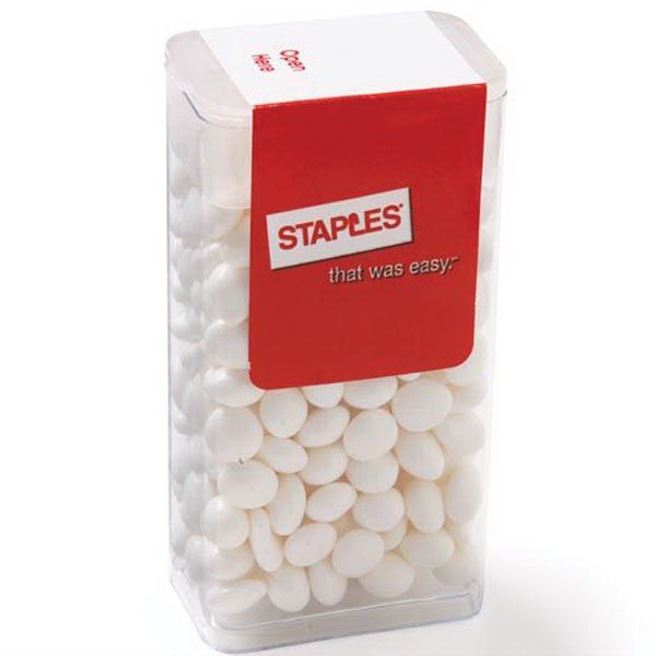 Printed Flip Top Candy Dispenser / White Mints