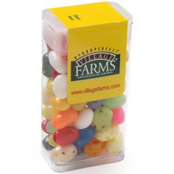 Imprinted Flip Top Candy Dispenser / Gourmet Jelly Beans