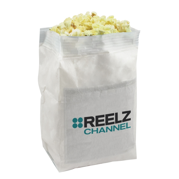 Imprinted White Popcorn Bag with Custom Imprint