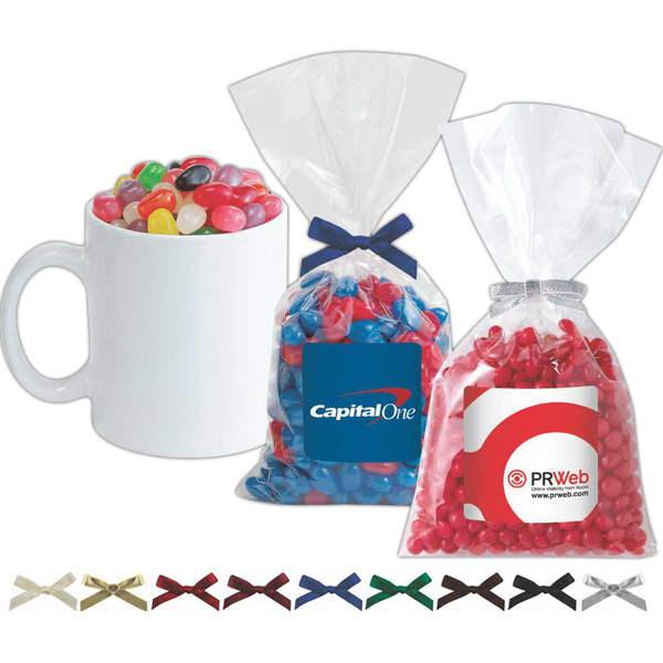 Promotional Mug Stuffer Bag / Chocolate Sport Balls (4 oz)