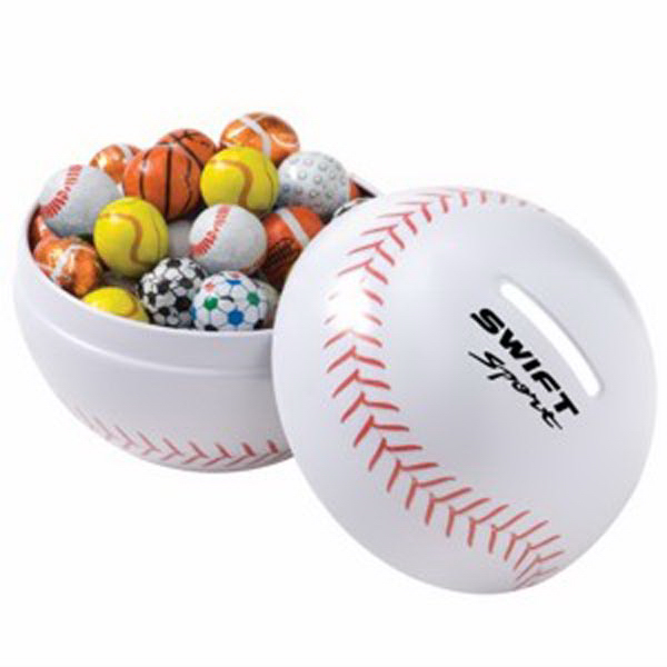 Custom Themed Tin / Chocolate Sport Balls