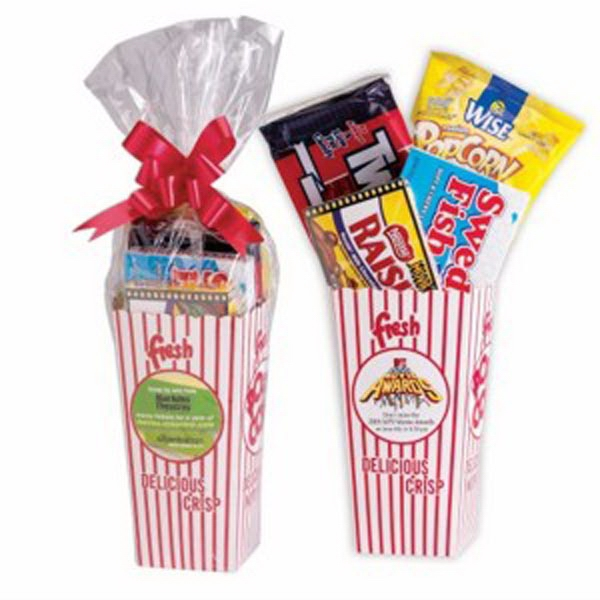 Personalized Movie Snack Box with Cello Bag & Bow