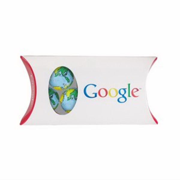 Personalized Pillow Box with Window / Chocolate Earth Balls