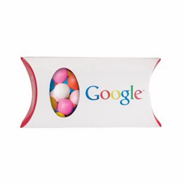 Promotional Pillow Box with Window / Chocolate Buttons