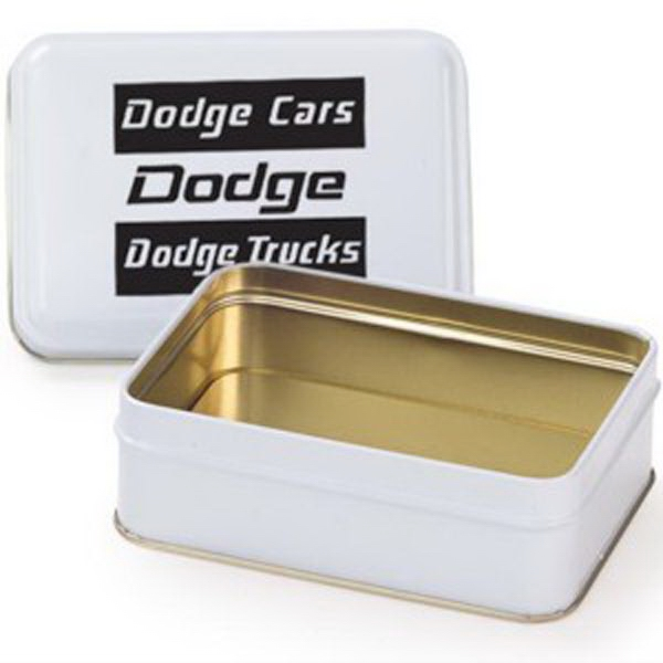 Imprinted Small Rectangle Tin