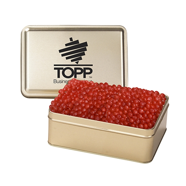 Customized Small Rectangular Tin / Red Hots
