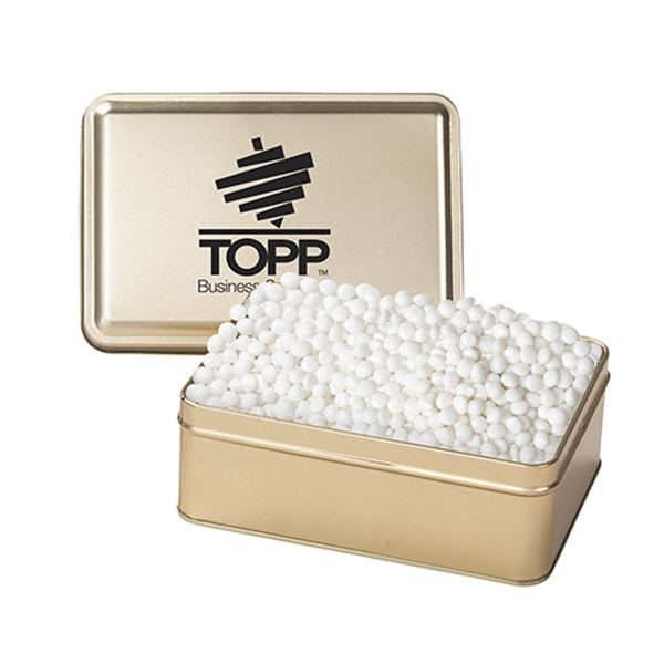 Promotional Small Rectangular Tin / White Mints