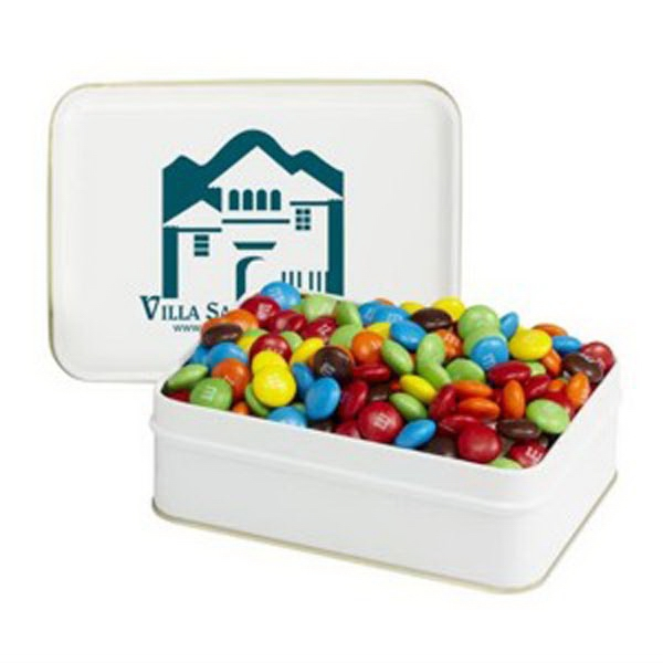 Printed Small Rectangular Tin / Candy Coated Chocolates
