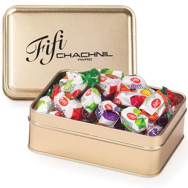 Customized Small Rectangular Tin / Hard Candies