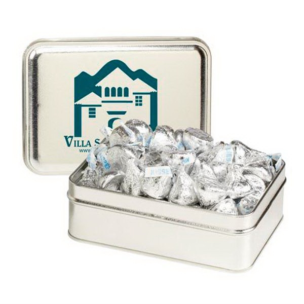 Custom Small Rectangular Tin / Hershey's Kisses®