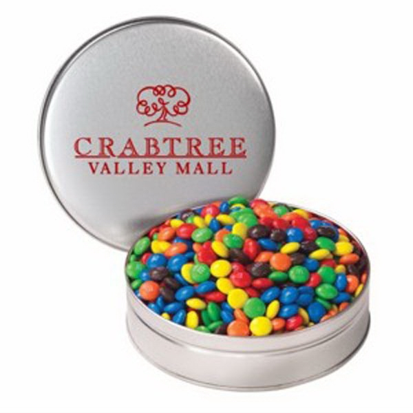 Promotional Small Tin /Candy Coated Chocolate
