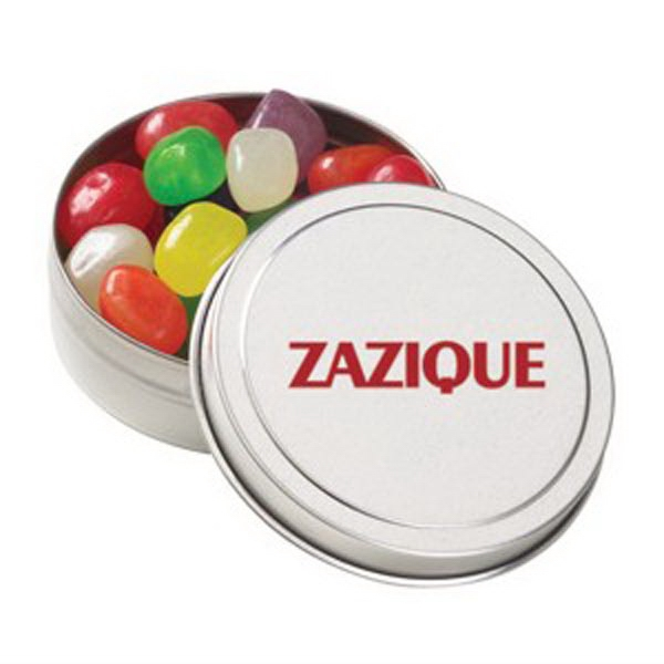 Promotional Small Round Tin / Jelly Beans Assorted