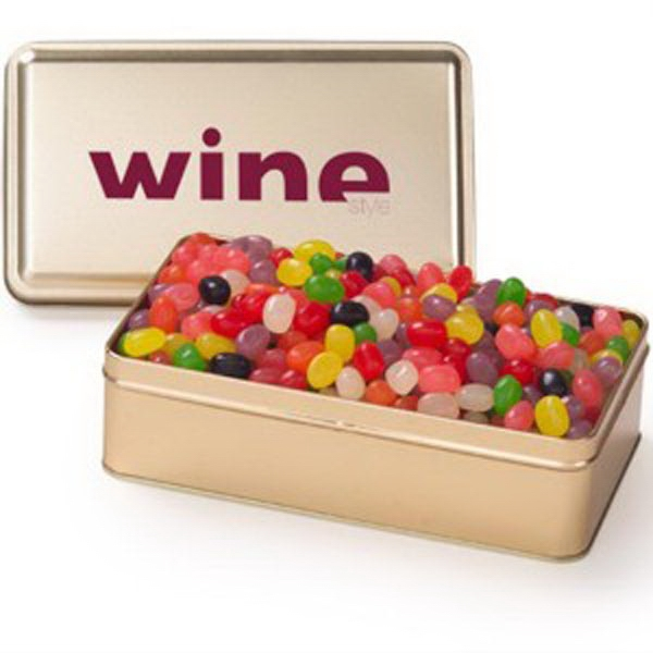 Promotional Large Rectangular Tin / Assorted Jelly Beans