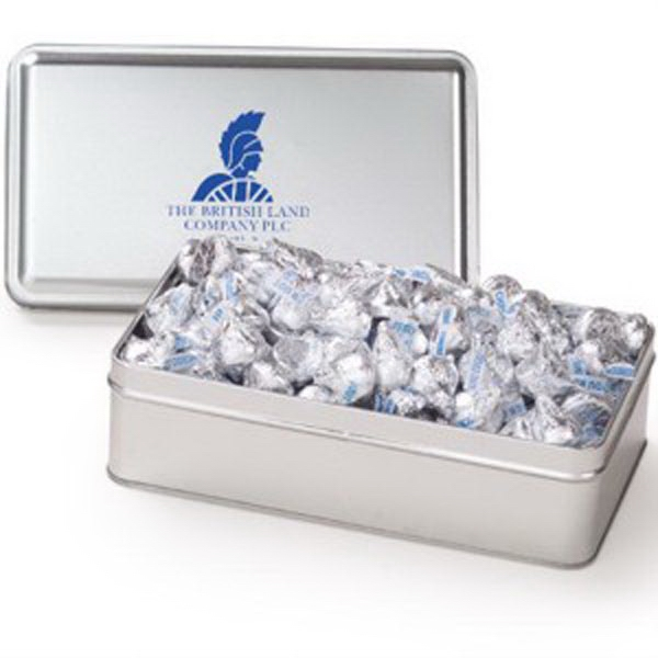 Printed Large Rectangle Tin / Hershey's Kisses®