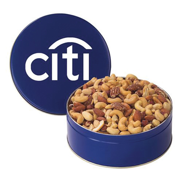 Custom Nut Tin with Mixed Nuts